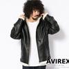 AVIREX FLEECE BONDING LEATHER PARKA 6181065画像