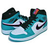 "NIKE AIR JORDAN 1 MID SE ""SOUTH BEACH"" turbo green/black-hyper pink 852542-306画像"