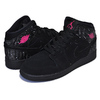 NIKE AIR JORDAN 1 MID GS black/rush pink-white-black 555112-001画像