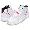 NIKE AIR JORDAN 11 RETRO(GS) platinum tint/university red 378038-016画像