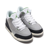 NIKE JORDAN 3 RETRO (PS) LT SMOKE GREY/CHLOROPHYLL-BLACK-WHITE 429487-006画像