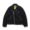 SCHOTT x ATMOS LAB FLEECE RIDERS JACKET BLACK AL18F-SP05画像