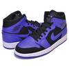 NIKE AIR JORDAN 1 MID black/dark concord-white 554724-051画像