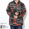 STUSSY Patchwork Zip Up L/S Shirt 111993画像
