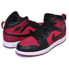 NIKE JORDAN 1 MID(PS) gym red/black-white 640734-610画像