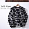Fall River Knitting Mills V Neck Zig Zag Sweater画像
