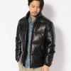 Schott LEATHER DOWN JACKET 3181061画像
