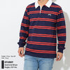 STUSSY Desmond Stripe Rugby L/S Polo 1140097画像