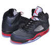NIKE AIR JORDAN 5 RETRO black/universite red 136027-006画像