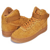 NIKE AIR FORCE 1 HIGH LV8(GS) wheat/wheat-gum light brown 807617-701画像