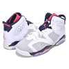 NIKE AIR JORDAN 6 RETRO(GS) TINKER white/infrared 23-neutral grey 384665-104画像