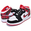 NIKE AIR JORDAN 1 MID(GS) university red/black-white 554725-607画像