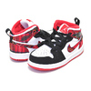 NIKE JORDAN 1 MID(TD) university red/black-white 640735-607画像