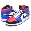 NIKE AIR JORDAN 1 MID TOP3 white/black-hyper royal 554724-124画像