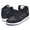 NIKE AIR JORDAN 1 MID black/olive canvas-sail-cone BQ6579-001画像