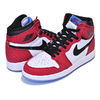 "NIKE AIR JORDAN 1 HIGH OG GS SPIDER-MAN ""ORIGIN STORY"" gym red/black-white-photo blu 575441-602画像"
