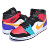 NIKE AIR JORDAN 1 MID WHAT THE NBA white/university red-black 554724-125画像