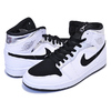 NIKE AIR JORDAN 1 MID ALTERNATE THINK 16 white/metallic silver-black 554724-121画像