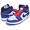 NIKE AIR JORDAN 1 MID SE deep royal blue/black 852542-400画像