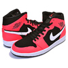 NIKE AIR JORDAN 1 MID black/infrared 23-white 554724-061画像