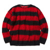 CHORD NUMBER EIGHT MOHAIR KNIT (BLACK×RED) N8M1K1-KN01画像
