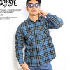 CUTRATE SPRING CORDUROY CHECK SHIRT -BLUE-画像