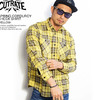 CUTRATE SPRING CORDUROY CHECK SHIRT -YELLOW-画像