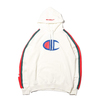 Champion × ATMOS LAB P/O HOODED SWEATSHIRT WHITE C8-P121-010画像