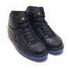 NIKE AIR JORDAN 2 RETRO BHM BLACK/METALLIC GOLD BQ7618-007画像
