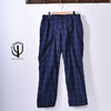 CORONA UTILITY SLACKS COOL MAX NAVY CHECK CP088NC画像