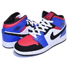 NIKE AIR JORDAN 1 MID(GS) TOP3 white/black-hyper royal 554725-124画像