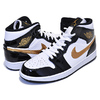 NIKE AIR JORDAN 1 MID SE black/metallic gold-white 852542-007画像