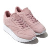 Reebok CL LTHR DOUBLE EF SMOKY ROSE/WHITE DV3628画像
