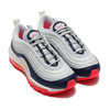 NIKE W AIR MAX 97 PURE PLATINUM/LASER ORANGE-MIDNIGHT NAVY 921733-015画像