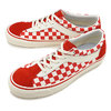 VANS CHECKERBOARD BOLD NI RACING RED/MARSHMALLOW VN0A3WLPT1E画像