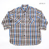 Sugar Cane Light SEERSUCKER MADRAS CHECK 3/4 SLEEVE WORK SHIRT SC38172画像