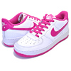 NIKE AIR FORCE 1 (GS) white/hot pink 314219-124画像
