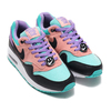 NIKE AIR MAX 1 NK DAY (GS) BLACK/WHITE-SPACE PURPLE-BLEACHED CORAL AT8131-001画像