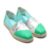 TOMS ALPARGATA ON ROPE Pastel Turquoise Translucent 10013512-GRN画像