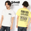 Schott EMBROIDERED T-SHIRT RIDE MESSAGE 3193071画像
