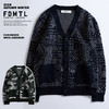 FDMTL PATCHWORK WOOL CARDIGAN画像