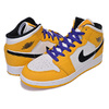 NIKE AIR JORDAN 1 MID SE(GS) university gold/black BQ6931-700画像