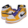 NIKE AIR JORDAN 1 MID SE university gold/black 852542-700画像