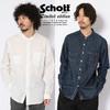 Schott BAND COLLAR SHIRT 3195033画像