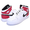 NIKE AIR JORDAN 1 MID(GS) white/black-gym red 554725-116画像