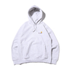 Carhartt HOODED AMERICAN SCRIPT SWEAT HEATHERGRAY I027041-48200画像