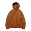 Carhartt HOODED AMERICAN SCRIPT SWEAT BROWN I027041-HZ00画像