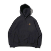 Carhartt HOODED AMERICAN SCRIPT SWEAT BLACK I027041-8900画像
