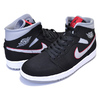 NIKE AIR JORDAN 1 MID black/particle grey-white 554724-060画像