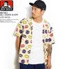 BEN DAVIS RETRO ALL OVER SHIRT -OFF WHITE- G-9580038画像